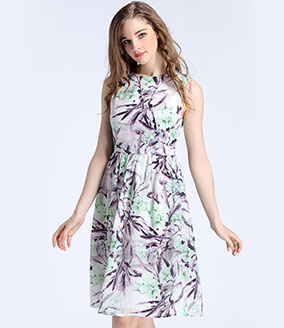 Clothing - Floral printed organza dress