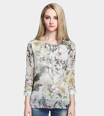 Silk printed top - Clothing