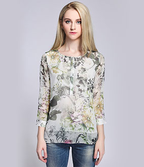 Clothing - Silk printed top