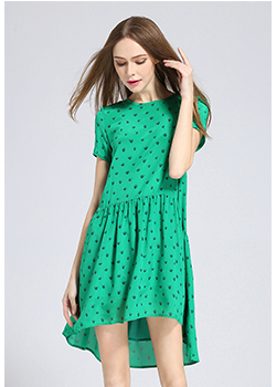 Dress - Printed loose fit dress