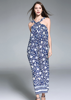 Jumpsuits - Printed Silk Dress