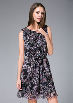 Dress - Printed Silk Chiffon Dress