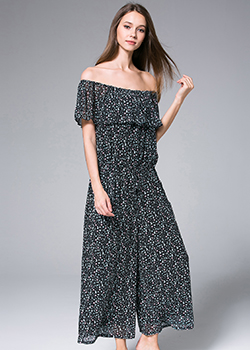 Jumpsuits - Off-the-shoulder Chiffon Jumpsuit