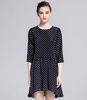 PRODUCT - Dot printed silk organza midi dress