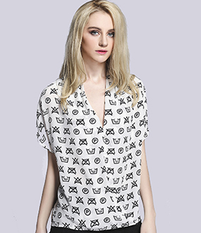 Tops -  Silk printed top
