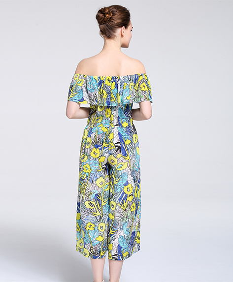 Dress - Printed Silk crepe de chine  Jumpsuits
