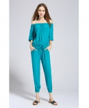 Silk crepe de chine jumpsuit