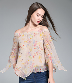 Tops - Printed Silk Top