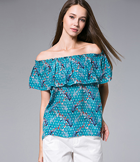 Tops - Printed silk crepe top