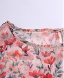 Flowers Printed silk Chiffon top