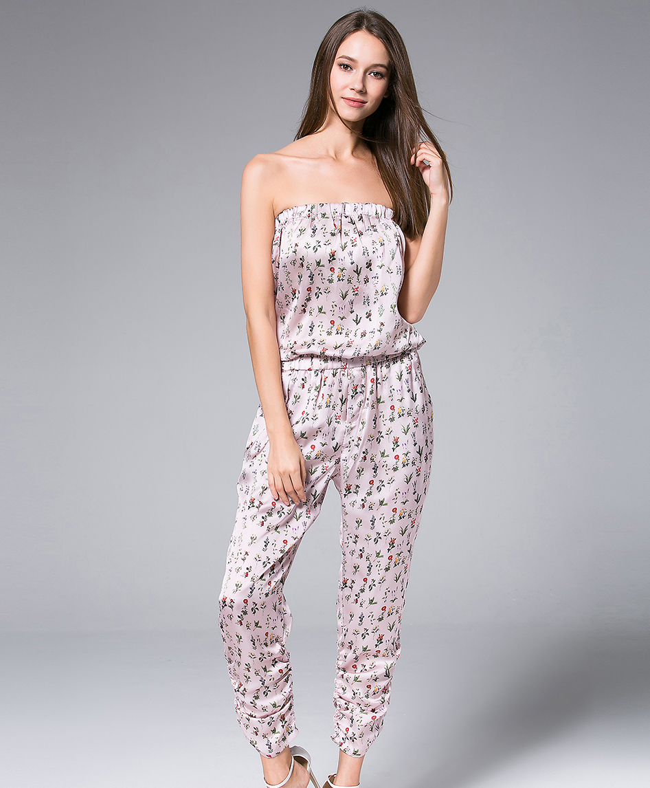 Jumpsuits - Pink Little Flowers Printed Jumpsuit