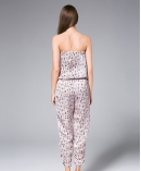 Pink Little Flowers Printed Jumpsuit